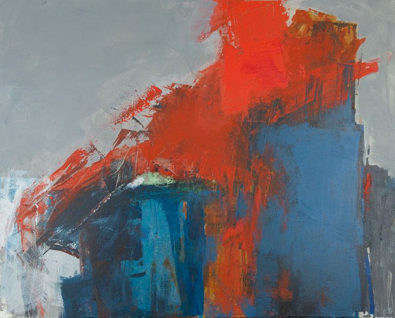 """Uta Beckert """"Leidenschaft"""", 100x80, Acryl/Pigmente/Mischtechnik, 2011"""