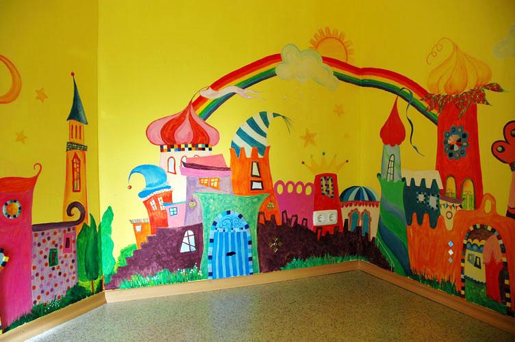 Kindergarten Bad Feilnbach, Wandgestaltung, 2008