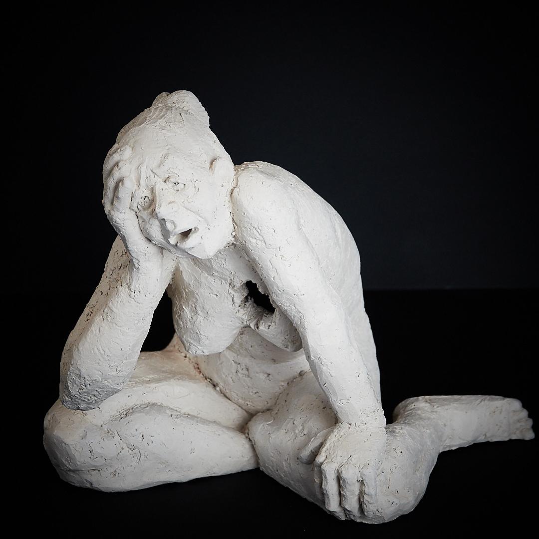 """Sculpture """"Schmerz"""", Ton, 2018, Höhe 22cm"""